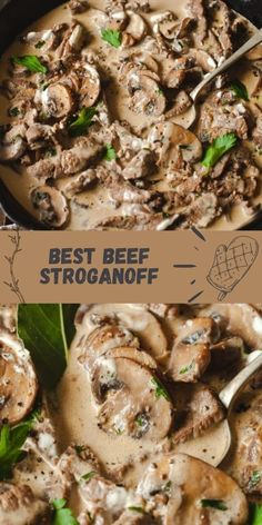 Tender and juicy beef steak strips with mushrooms and onions, smothered in a savoury sour cream sauce. Making classic Beef Stroganoff is easy! All you have to do is to follow my detailed instructions!