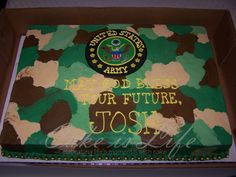 Army Military Police Welcome Home Cake