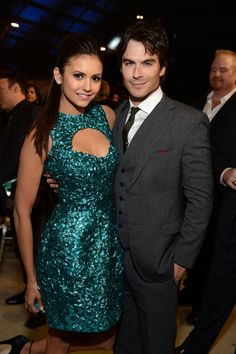 Nina Dobrev and Ian Somerhalder looked like a happy couple when they attended the Critcs' Choice Awards together in January.