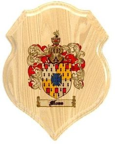 $34.99 Moss Family Crest Plaque / Coat of Arms Plaque.  at www.4crests.com - Your family coat of arms on a thick, beveled edge 12 inch oak plaque.  Manufactured by: Family Crests Store Merchant SKU: moss:plaque Thick Oak Family Crest Wall Plaque Great gift for anyone Family coat of arms / family crest printed in full color A great item for genealogy enthusiasts Hang on your home or office wall