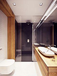 apartamento urbano en Varsovia baño