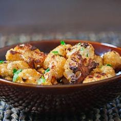 Cauliflower Poppers - cauliflower pieces coated with simple spices and roasted to perfection.