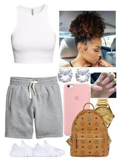 """Chill Fridayy☺️"" by amournyaa ❤ liked on Polyvore featuring H&M, NIKE, Nixon and MCM"
