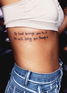 small quote tattoos with meaning Girl Tattoos