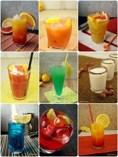 drinki z wodki - 20 przepisów na majówkę Party Drinks, Cocktails, Blue Curacao, Shake, Panna Cotta, Food And Drink, Pudding, Ethnic Recipes, Gastronomia