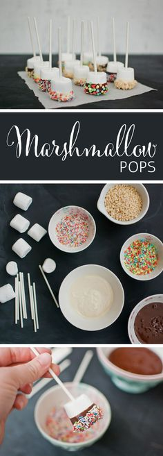 Easy Sprinkle Marshmallow Pops from {nifty thrifty things}