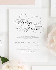 Script Elegance Invitations