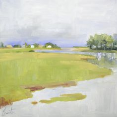 """Flood Tide"" by  Ellen Welch Granter.  12"" x 12"" Oil on Panel.  Available at Maine Art Paintings & Sculpture."