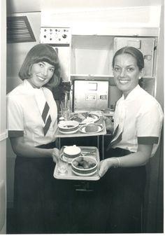 Cabin crew on board Concorde