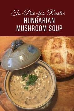 Who doesn't love a delicious bowl of soup? Make it a to-die-for rustic Hungarian mushroom soup and you have heaven in a bowl. Who doesn't love a delicious bowl of soup? Make it a to-die-for rustic Hungarian mushroom soup and you have heaven in a bowl. Vegetarian Recipes, Cooking Recipes, Healthy Recipes, Cooking Ideas, Yummy Recipes, Healthy Soup, Eating Healthy, Vegan Soup, Easy Cooking