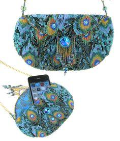 """Peacock"" beaded needlepoint gag Kit by Ann Benson by Beads East  $ 78--"