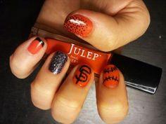 Baseball season! SF Giants Nail Art