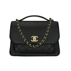 891f78b7b03 CHANEL Business Affinity Large Black Caviar with Champagne Hardware 2017