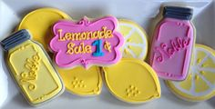 Lemonade Sugar Cookie Collection by NotBettyCookies on Etsy, $38.00