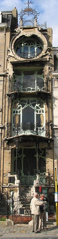 Art Nouveau, balcones Maison Saint-Cyr, Bruselas