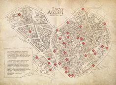 Mapa tematizado de Lucus Augusti durante el Arde Lucus 2013. http://ardelucus.com/lucus-augusti.php