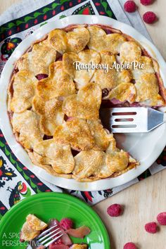 Bold Raspberry Apple Pie