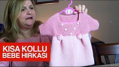 Kısa kollu bebek hırkası