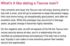 How to keep a taurus man