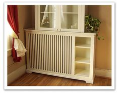Painted wooden radiator cover