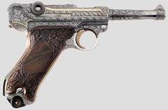 H. Krieghoff's personal P08 LUGER w/ exquisite craftsmanship.