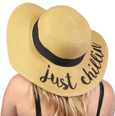 b1738b22753 Amtal Women Elegant Wide Brim Embroidered Beach Pool Floppy Summer Vacation  Sun Hat (Bon Voyage)