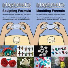 Plastimake Starter Kit Reuseable plastic sculpting material  $25