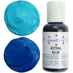 Royal Blue Gel Paste Food Color from www.LayerCakeShop.com  Perfect for Doughs, batters, icing, frosting, fondant, gum paste, etc