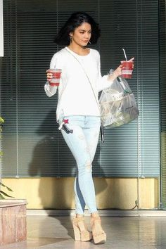 Vanessa Hudgens wearing Feel the Piece Dove Sweater