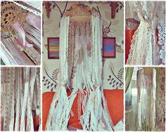 Bohemian Crib Canopy  Laces Canopy  Boho Nursery от iCatchUrDream