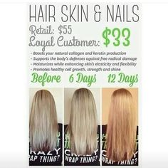 Awesome results from It works Hair Skin & Nails. Everyone gets results some faster than others! Call/Text 520-840-8770 http://bodycontouringwrapsonline.com/hair-skinnails