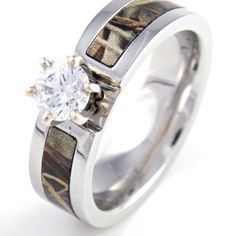 I would love to have this as my engagement ring but the camo in pink camo