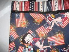 OC High School of the Arts OShop Patriotic Betty Boop handmade tote