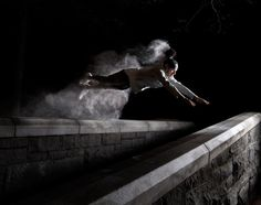 Lately, reader submissions have been flooding in, and it's an exciting way for us to discover new artists. This was one of them, and we jumped at the chance to publish this incredible series Parkour Motion by NYC-based photographer Ben Franke. Action Photography, Dark Photography, Conceptual Photography, Photography Ideas, Web Design, Design Blog, Neon Aesthetic, Aesthetic Girl, Parkour Gym
