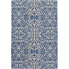 Keep high-traffic areas like your entryway or den looking elegant with this versatile rug, showcasing a damask design.   Product: