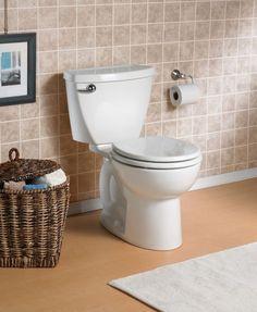 American Standard Cadet 6 LPF Single Flush Round Front Bowl Toilet in White Bathroom Toilets, Bathroom Renos, Basement Bathroom, Cottage Renovation, American Standard, Powder Room, Clogs, Bowls, Compact