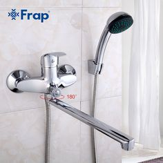 FRAP A set length outlet rotated Brass body Bathroom shower faucet Four handle options Bathtub Faucet bath water mixer Bathroom Shower Faucets, Towel Holder Bathroom, Bathroom Fixtures, Bathtub, Basin Mixer Taps, Wrench Set, Shower Set, Stainless Steel Rings, Tool Set