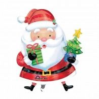 Santa with Tree Foil Balloon $22.95 (Inflated) U27229