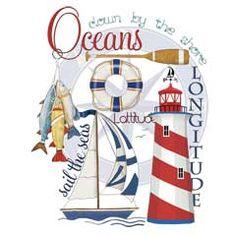 Nautical Collage - Oceans / Mary Laket Thompson