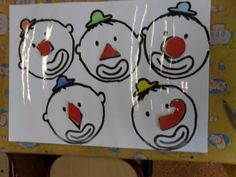 De eerste kleuterklas van basisschool Lucerna: Thema carnaval Clown Crafts, Le Clown, Confetti, Art For Kids, Kindergarten, Arts And Crafts, Snoopy, Holiday Decor, Montessori