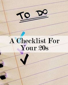 The Ultimate To-Do List for Your 20s // #levo #20something resources