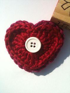 Honey Pie Boutique Crochet Hair Clip - Heart  $6.50