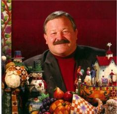 this is Jim Shore - a gifted man who graces each piece he makes with abundant joy that fills our hearts upon receipt.