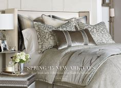 Luxury Bedding by Eastern Accents. Order your spring collection at www.grayareainteriors.com