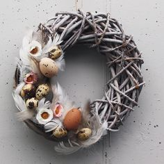Easter wreath by WREATHSandsoon on Etsy https://www.etsy.com/listing/497808314/easter-wreath
