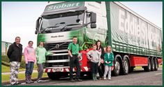 Mark Dixon (centre) - one of Eddie Stobart's most popular drivers.