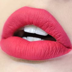 Mars red pink Ultra Matte Lip swatch