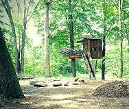 Lakeside treehouse by Roderick Romero Studios