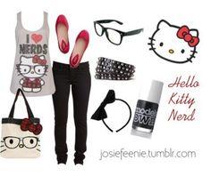 Hello Kitty Nerd Outfit.