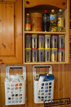 The order of the kitchen. Sticker jars. Organizing ideas.  Порядок на кухне.  Этикетки для круп